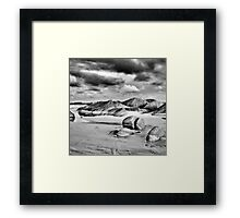 Granite Beach at Dusk Framed Print