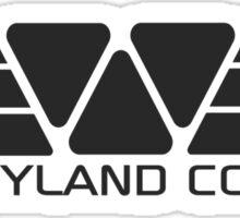 Weyland Corp logo - Alien - Grey Sticker
