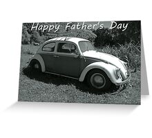 "VW Beetle - ""Happy Father's Day"" Card Greeting Card"