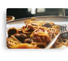 Spaghetti Flow Metal Print