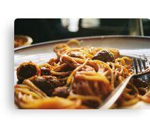 Spaghetti Flow Canvas Print