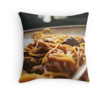 Spaghetti Flow Throw Pillow