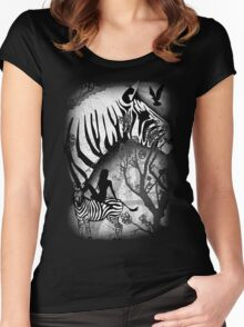 In My Black and White Dream Women's Fitted Scoop T-Shirt