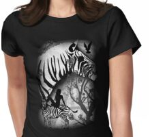 In My Black and White Dream Womens Fitted T-Shirt