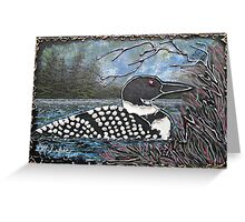 Loon At The Pines Greeting Card