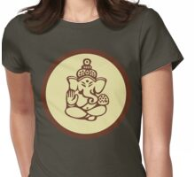Hindu, Hinduism, Ganesh T-Shirt Womens Fitted T-Shirt