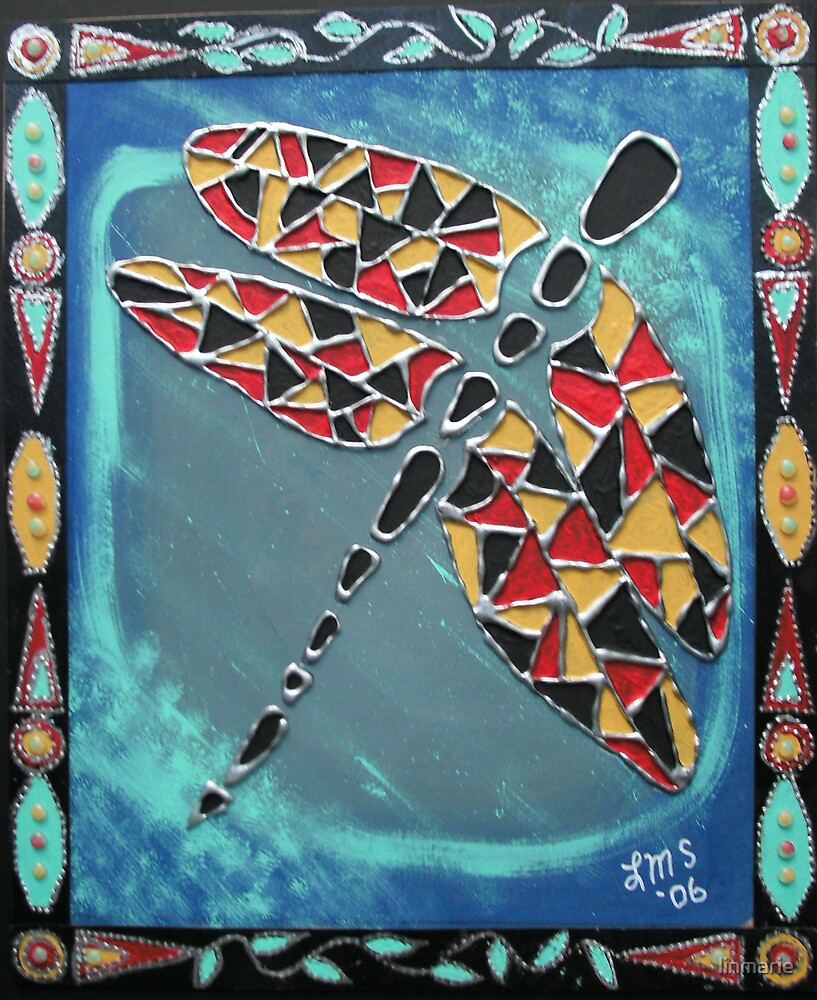 Aztec Dragonfly by linmarie
