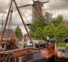 Clouds Over Gouda Holland Sticker