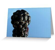 fresh blackberry Greeting Card
