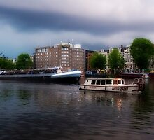 Water Taxi on the Amstel by Hugh Smith