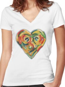 GUMMY WORM LOVE Women's Fitted V-Neck T-Shirt