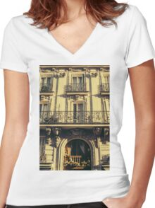 Architecture in Paris Women's Fitted V-Neck T-Shirt