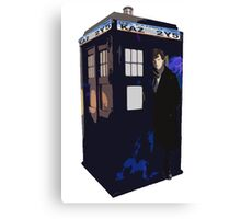 SuperWhoLock Design Canvas Print
