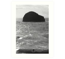 Cornwall: The Surfer and the Rock Art Print
