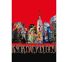 New York City in Graffiti Photographic Print