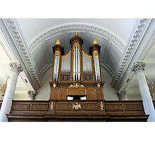 Pipe Organ of The Church of St. Mary the Virgin, Aldermanbury Photographic Print