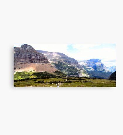 Shadows on the Land - Glacier National Park, Montana, USA Canvas Print