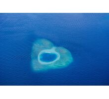 Heart Reef in the Great Barrier Reef of Australia Photographic Print