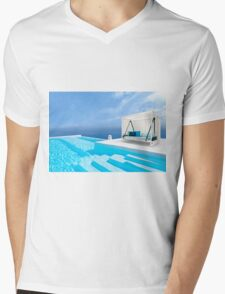 Santorini, Greece Mens V-Neck T-Shirt