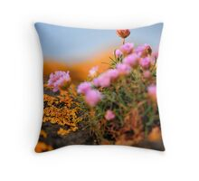 An Orange and Pink World Throw Pillow