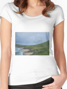 Atlantic Coast, Dingle, Ireland Women's Fitted Scoop T-Shirt