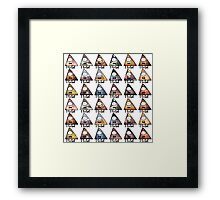 Bill Cipher Knows Lots of Things Framed Print