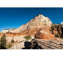 sandstone cliffs in zion national park Photographic Print