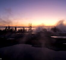 Sunset on Thermal Pools by John  Sperry