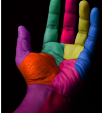 Colorful Hands Sticker