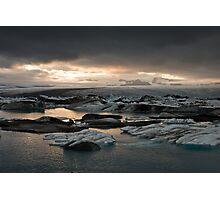 Glacier Lagoon August 2009 #3 Photographic Print