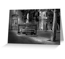 Church Court Yard ---- Mellieha Malta Greeting Card