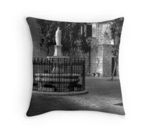Church Court Yard ---- Mellieha Malta Throw Pillow