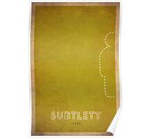 Subtlety Rogue - WoW Minimalism Poster
