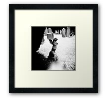 Small stone angel Framed Print