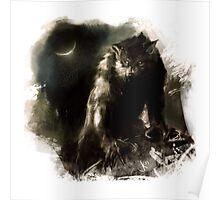 Crescent Moon Werewolf Poster
