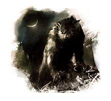 Crescent Moon Werewolf Photographic Print