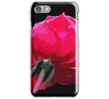Red ROSE on black ... iPhone Case/Skin