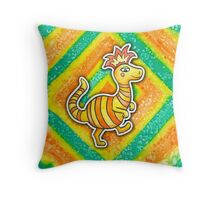 Earthbound Crested Booka Throw Pillow