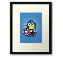 Minions Assemble - Captain Minerica Framed Print
