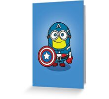 Minions Assemble - Captain Minerica Greeting Card