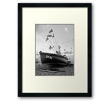...teach a man to fish (monochrome)... Framed Print