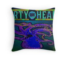 Psychedelic Octopus Throw Pillow