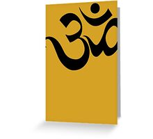 "Yoga ""Om Symbol"" T-Shirt Greeting Card"
