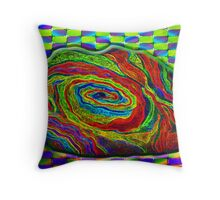 BRAINMAN Optical Illusion Character  Throw Pillow