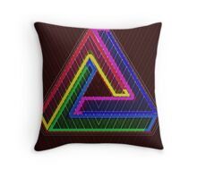TRIFORCE Optical Illusion Impossible Geometry Throw Pillow