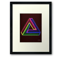 TRIFORCE Optical Illusion Impossible Geometry Framed Print