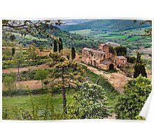 Farm in Orvieto, Italy Poster