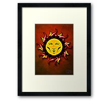 Psychedelic Star Character Icon Framed Print