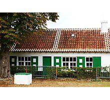 Fisherman's House - Oostduinkerke - Belgium Photographic Print