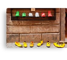 Shoe Shop in Montepulciano, Italy Canvas Print